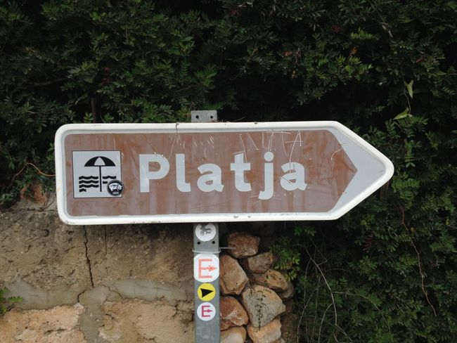 Beach Day Direction Direction Sign No People Outdoors Platja SPAIN Text