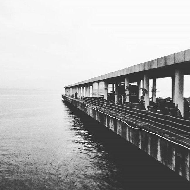 Moment O_an Bw Black_white Siyahbeyaz Sea Sky Endless