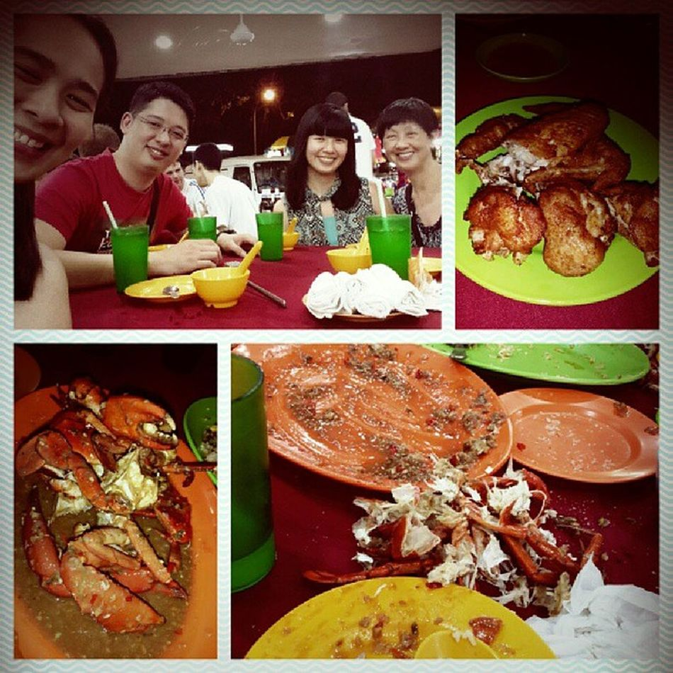 This is the very reason why Im fat now. But I don't mind cause I love Crabs. Before and After shot of our food. Fattycrab SundayDinner Bestgravy ever