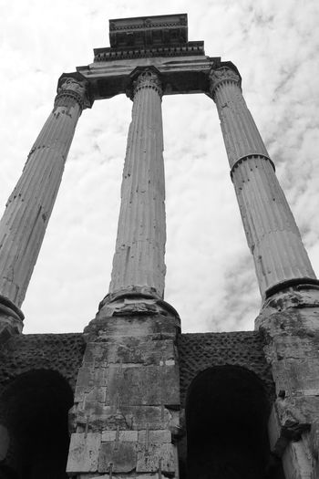 Architecture Historical Building Ancient Ancient Civilization Archaeology Architectural Column Architecture Arcitectural Colum Black And White Building Exterior Built Structure Cloud - Sky Historic History Low Angle View No People Old Ruin Outdoors Place Of Worship Religion Sky Spirituality The Past Tourism Travel Destinations