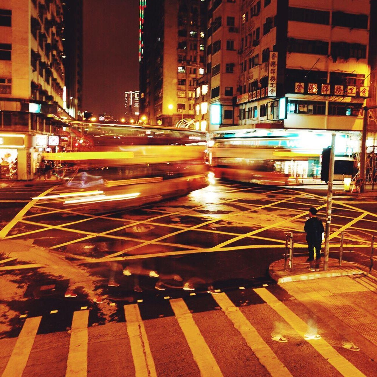 香港 马路 延时摄影 夜景 Light Hk Night