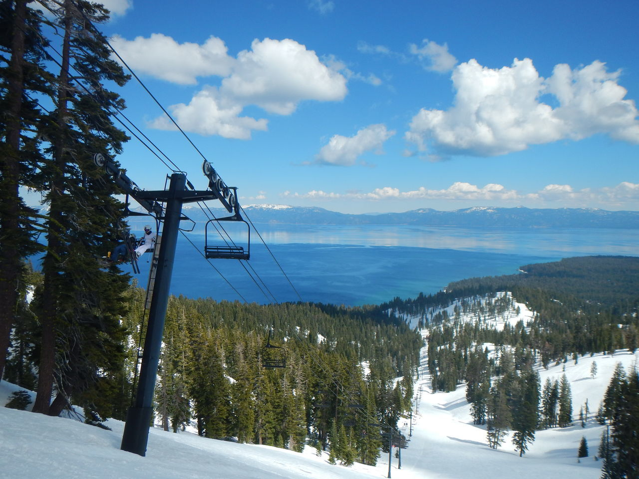 A beautiful Tahoe Day in the Winter. Beauty In Nature Cable Cloud - Sky Cold Temperature Idyllic Landscape Mode Of Transport Mountain Mountain Range Nature Non-urban Scene Overhead Cable Car Scenics Ski Lift Sky Snow Tahoe Tahoe Blue Tourism Tranquil Scene Tranquility Transportation Tree Weather Winter