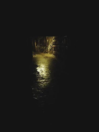 Night No People Corridor Minor Salt Underground