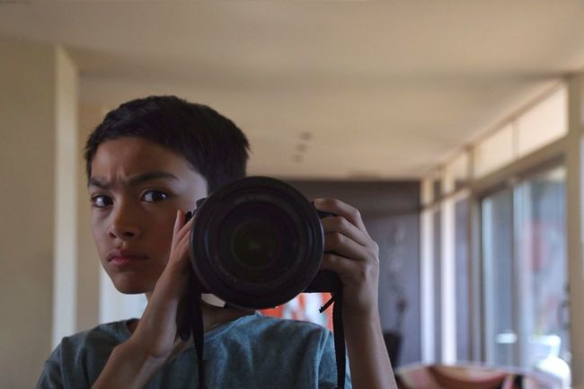 Home Is Where The Art Is Boy Camera Mirror Bokeh Self Portrait Close-up Face