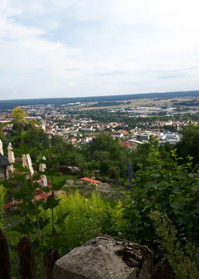 Amberg von der Maria Hilfsberg Kirche aus gesehen Amberg