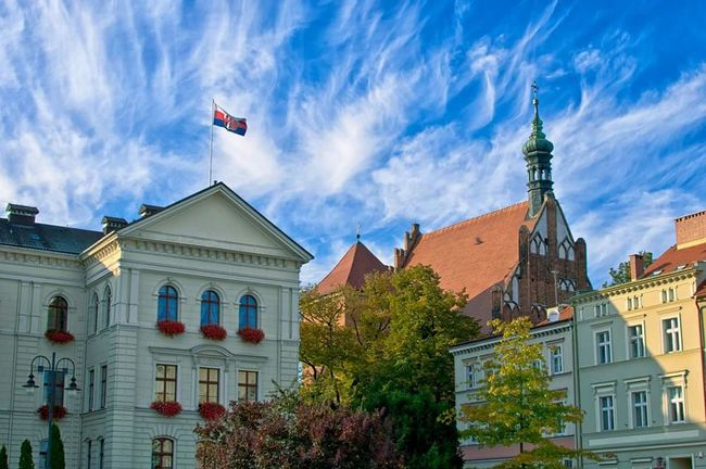 Bydgoszcz Town Hall Sky Sky And Clouds Blue Blue Sky Clouds Colors Old Town