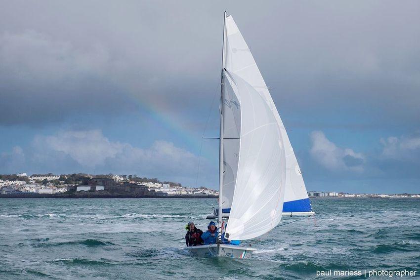 Showcase April Sea Sea And Sky Sailing Rainbow Rio2016 Teamgb Guernsey Weather Eyemphotography EyeEm Best Shots Coastline Eyem Best Shots Olympics