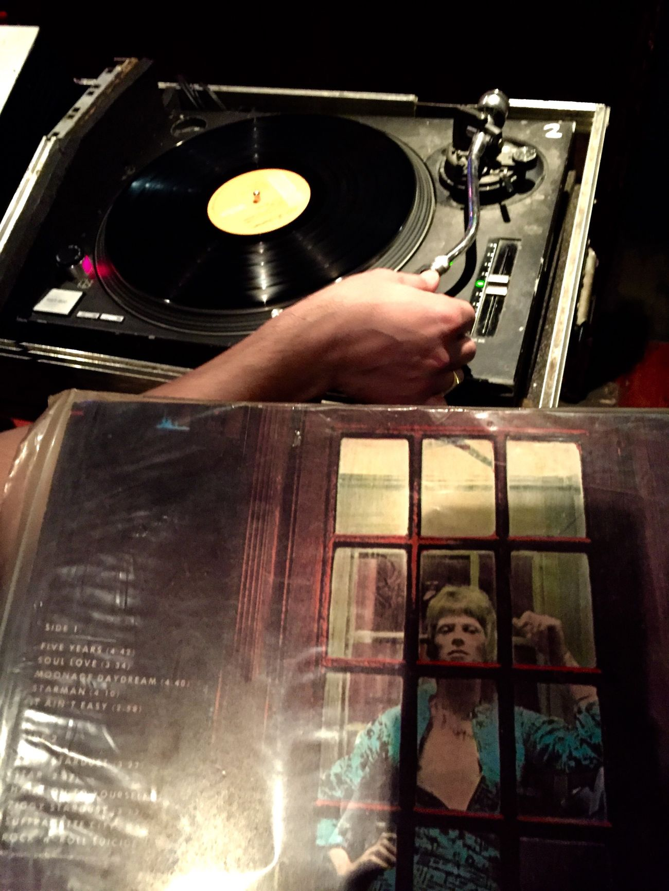 David Bowie Dedication Vinyl DJing Pub Record Turn Table Music Tunes