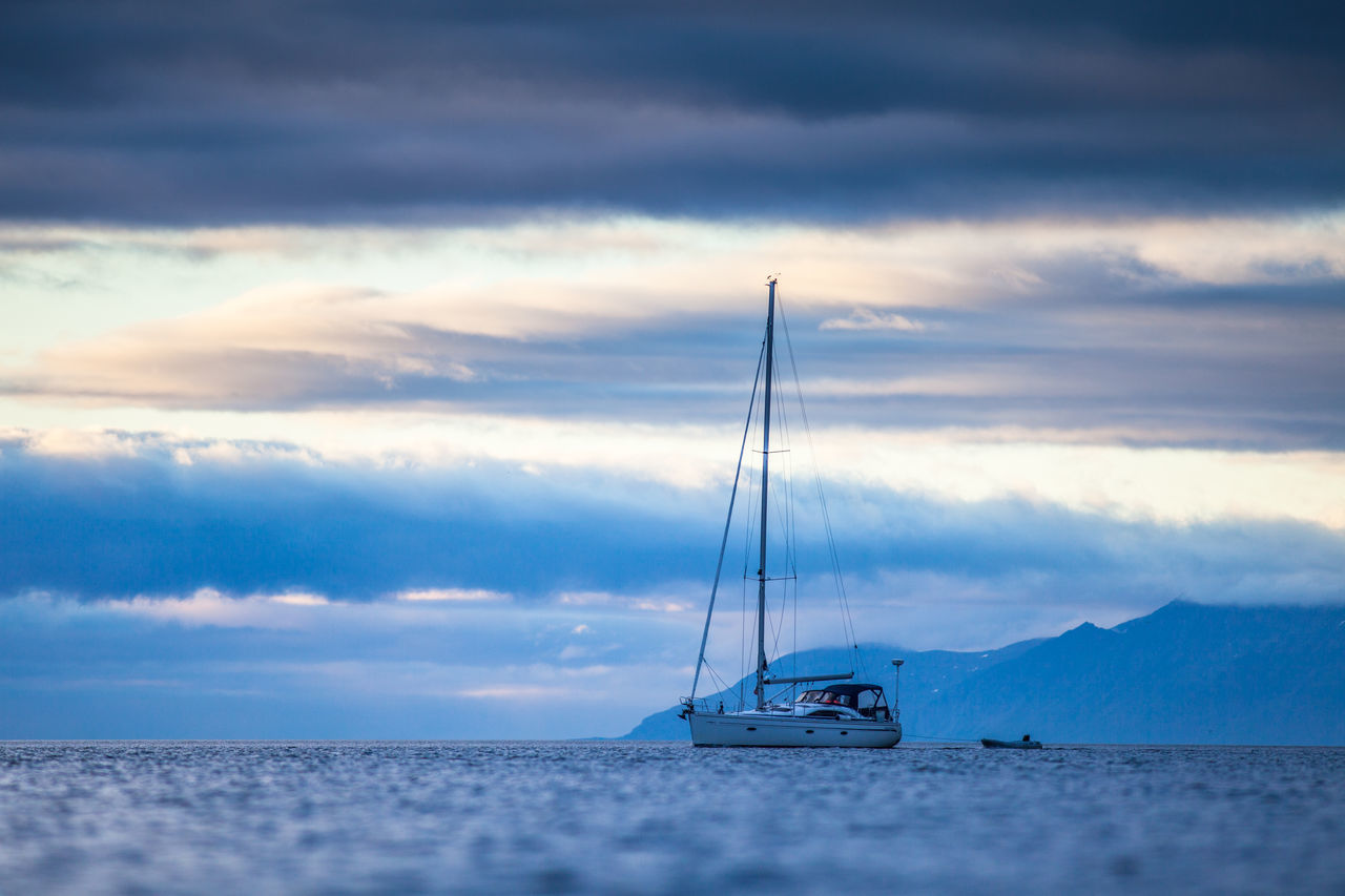 Arctic Beauty In Nature Cloud - Sky Day Dramatic Sky Horizon Over Water Landscape Mast Mode Of Transport Nature Nautical Vessel No People Northern Norway Norway Outdoors Sailing Sailing Ship Scenics Sea Sky Sunset Tranquil Scene Tranquility Transportation Water The Great Outdoors - 2017 EyeEm Awards