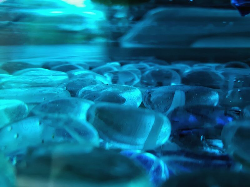Maximum Closeness Blue Backgrounds Close-up Water Day Outdoors Underwater Colored Water