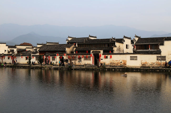 Village Photography River View Inverted Images Inverted Reflection In Water Building Story Chinese Traditional Building Historic City Historic Building Chinese Town Historic Towns China Town