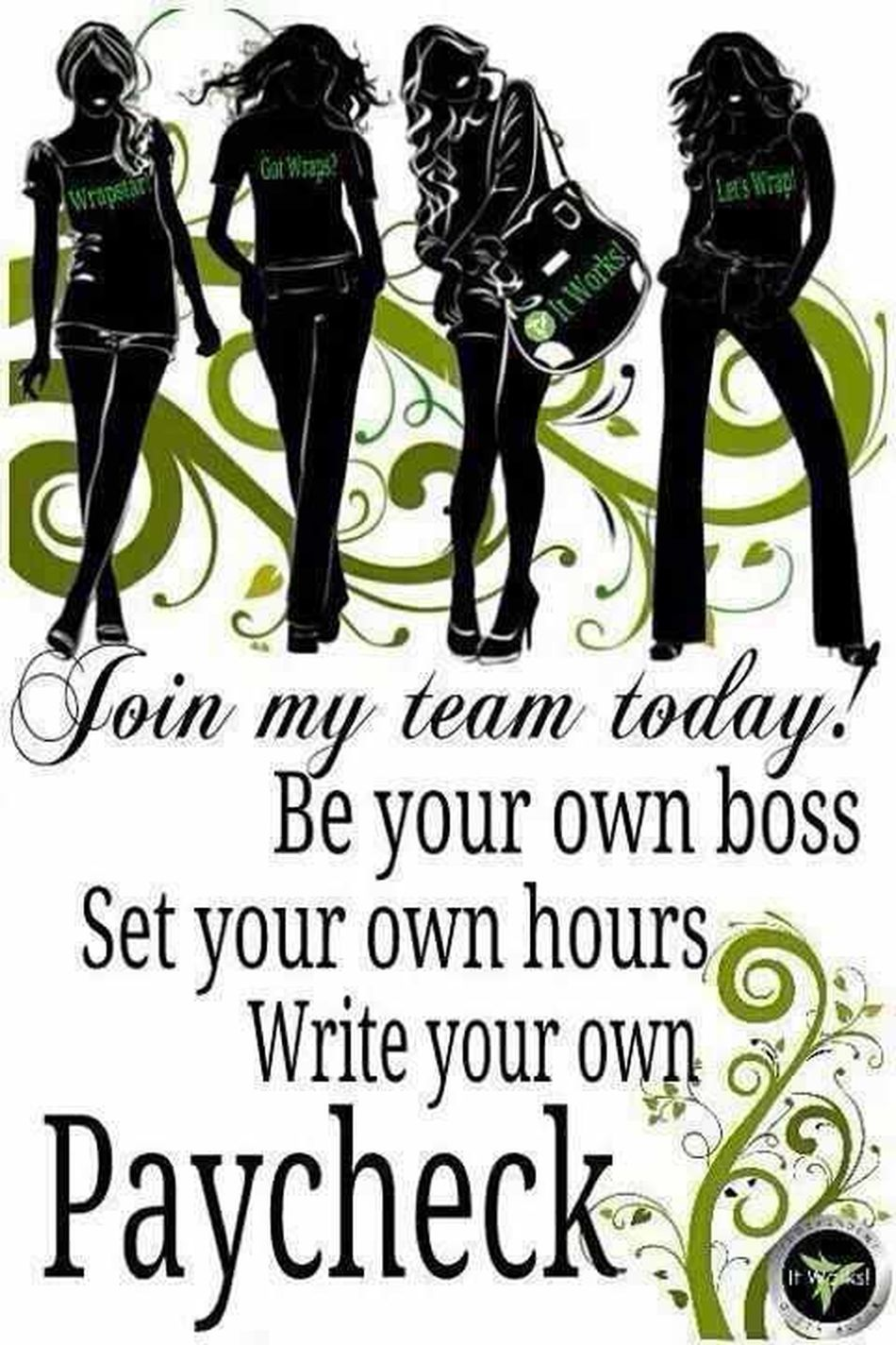 Own Business Yourtime make a difference for your future in 6m-1yr where will you be in Check This Out www.jenngskinnywraps.myitworks.com
