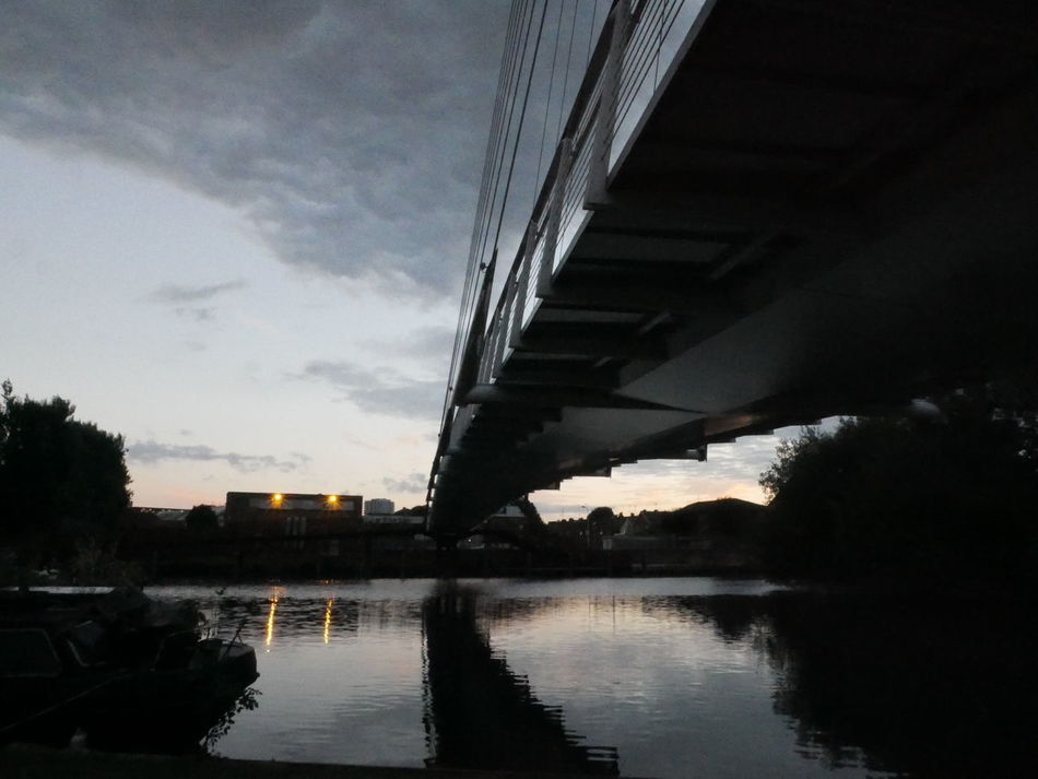 Architecture Below Bridge Bridge - Man Made Structure Built Structure Caversham Caversham Bridge Connection Day Nature No People Outdoors Reflection River Sky Sunset Transportation Underneath Water