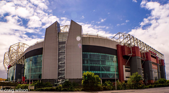 Architectural Feature Architecture Building Exterior Cloud - Sky Day Football Football Stadium Low Angle View Man Utd Manchester United Manu No People Old Trafford Sky Theatre Of Dreams