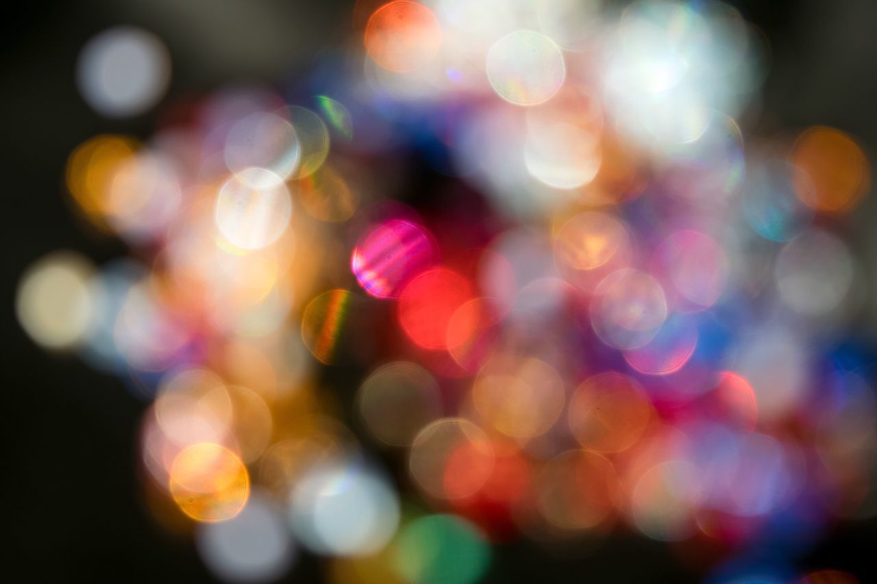 Multi Colored Defocused Illuminated Night Blurred Light Effect Fairy Lights No People Close-up Backgrounds Outdoors なんかキラキラしたもの ✨ Bokeh Something Glittery
