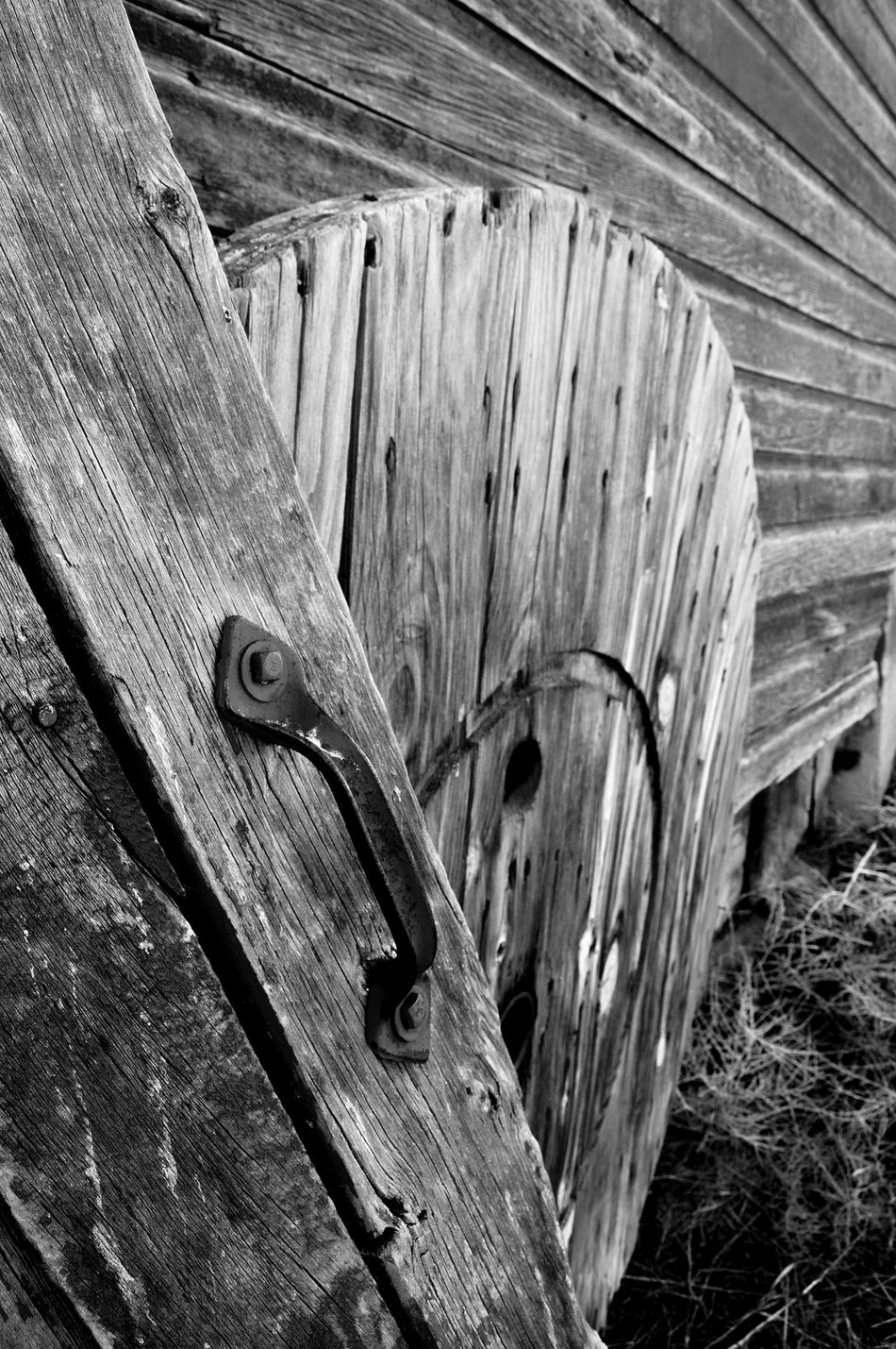 Wood against wood Abandoned Barn Black And Whie Close-up Day No People Outdoors Ranch Wood - Material