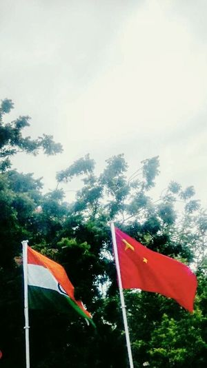Two Is Better Than One Brics Indianflag Chinaflag Brics2016 Greenery Clouds And Sky Special👌shot Helpinghands Worldpowers Asian Culture Asiancontries Yashansh_photography