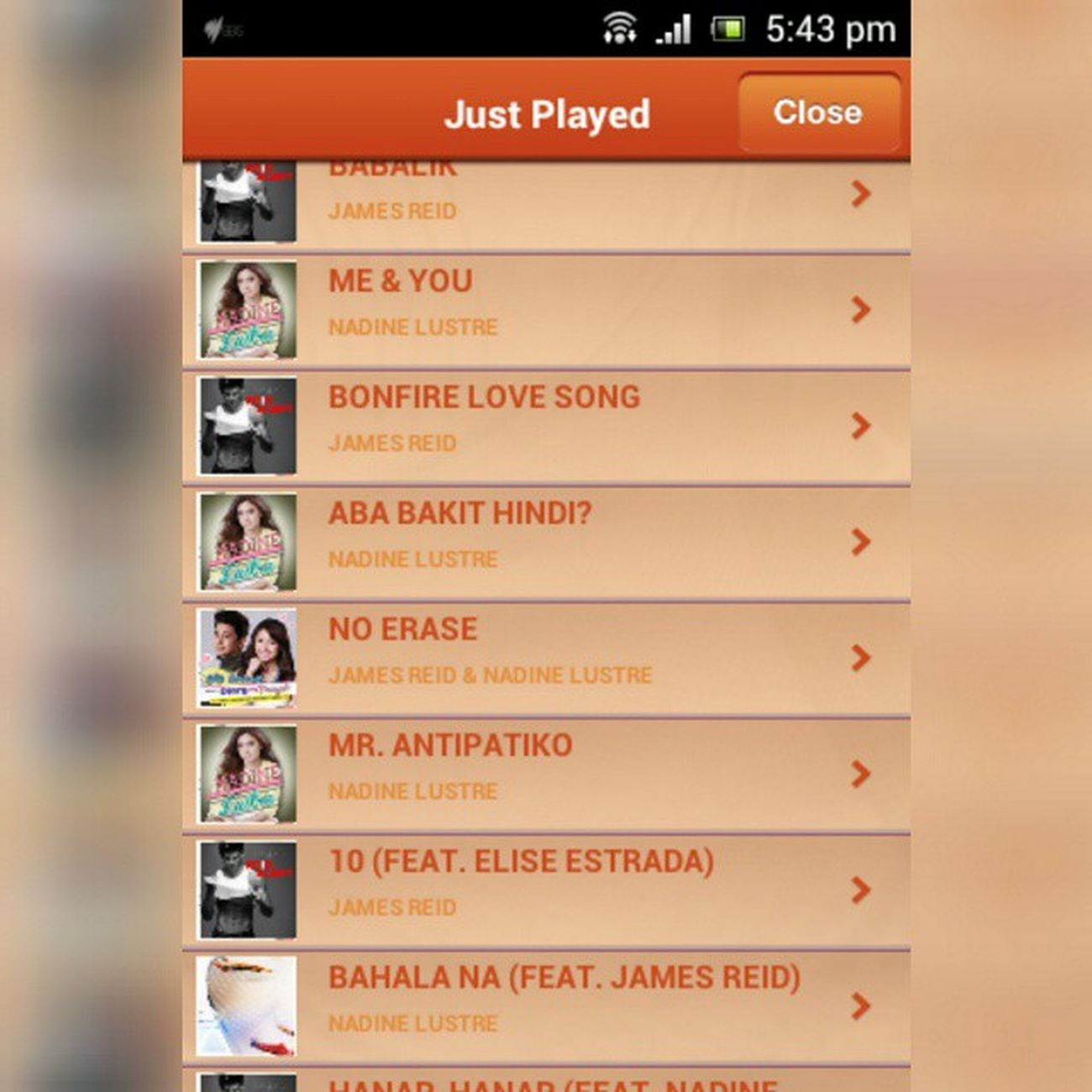 Nakakaiyak naman!! I'm so proud of these two talaga, niplay buong album nila! 👏👏👏👏👏 Ibang level ng saya pag nadidinig ko kanta nila playing internationally! 😱😱😱😱 So much love! ❤💋❤💋 NadineLustre Jamesreid JADINE Sbspopasia SBSPopAsiaNadine ❤