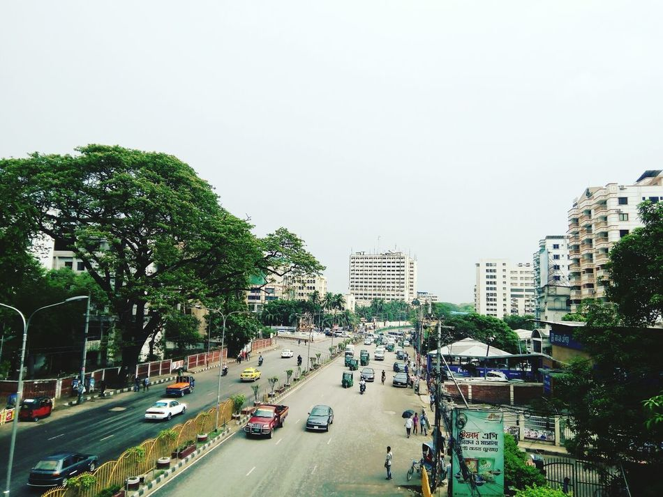 Dhaka, Bangladesh Footoverbridge Mobilephotography Road