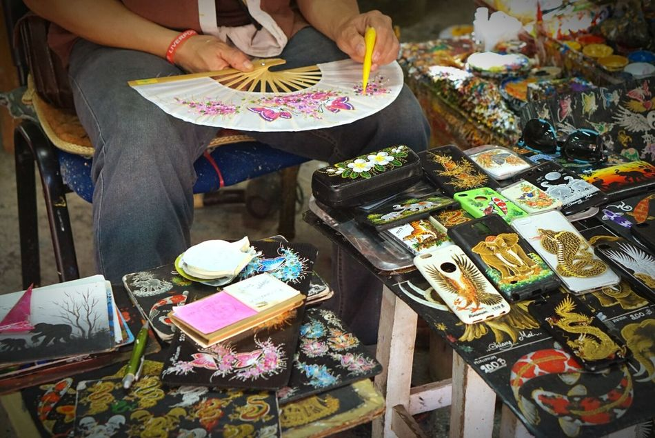 Thai Craft Drawing Color Art Art And Craft Paint Painting Chiangmai Thailand
