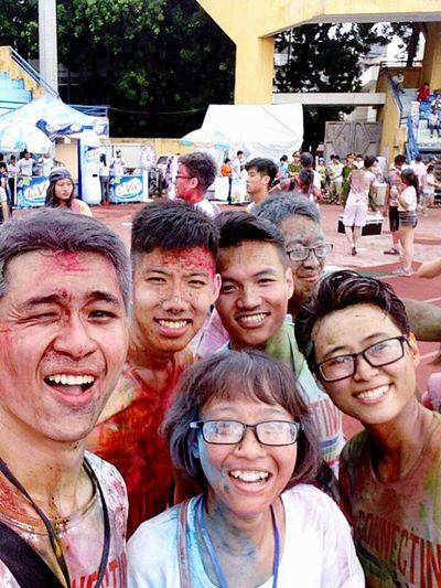 Connecting Vietyouth 2015  Volunteers Colorful Memorable Memories Hangdaystadium Hanoi Vietnam