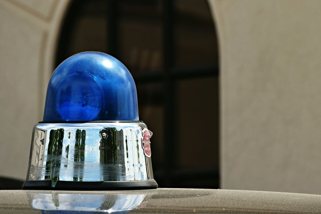 Close-up Glass - Material Blue No People Vintage Police Siren Pop Of Color Part Of Old-fashioned History Still Life Modestmills