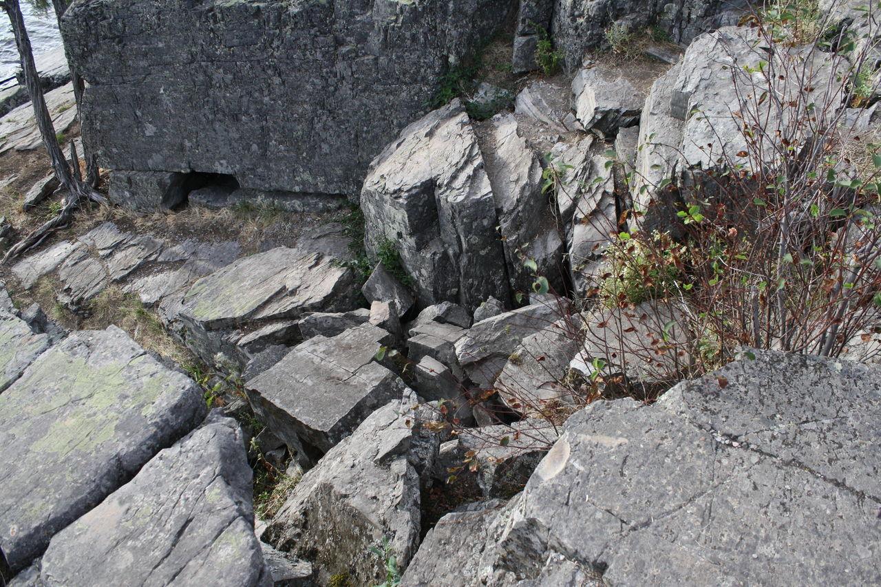 Rocks By Wall