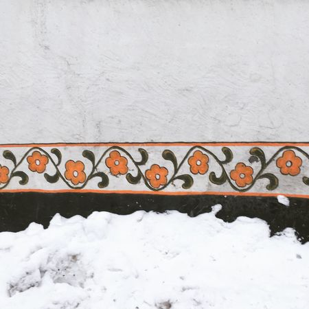 Besutiful little mural In Chamonix Aupair Winter Cold Temperature Weather Outdoors No People Day Nature Architecture Built Structure Retaining Wall Building Exterior Close-up Painting Mural Flowerpainting