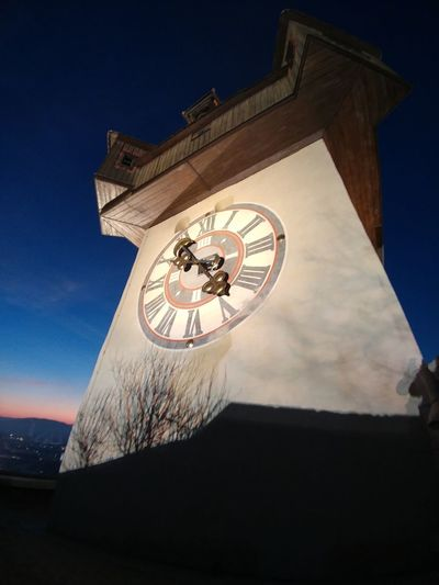 Time Clock Archival Architecture Low Angle View Sky Travel Destinations Clock Face No People Clock Tower Outdoors Astrology Sign Minute Hand Day Astronomy Midnight