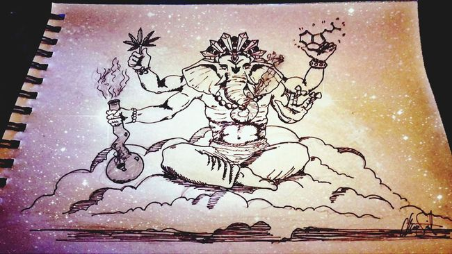 My Art Work Lord Ganesha Pick Your Poison Trippy