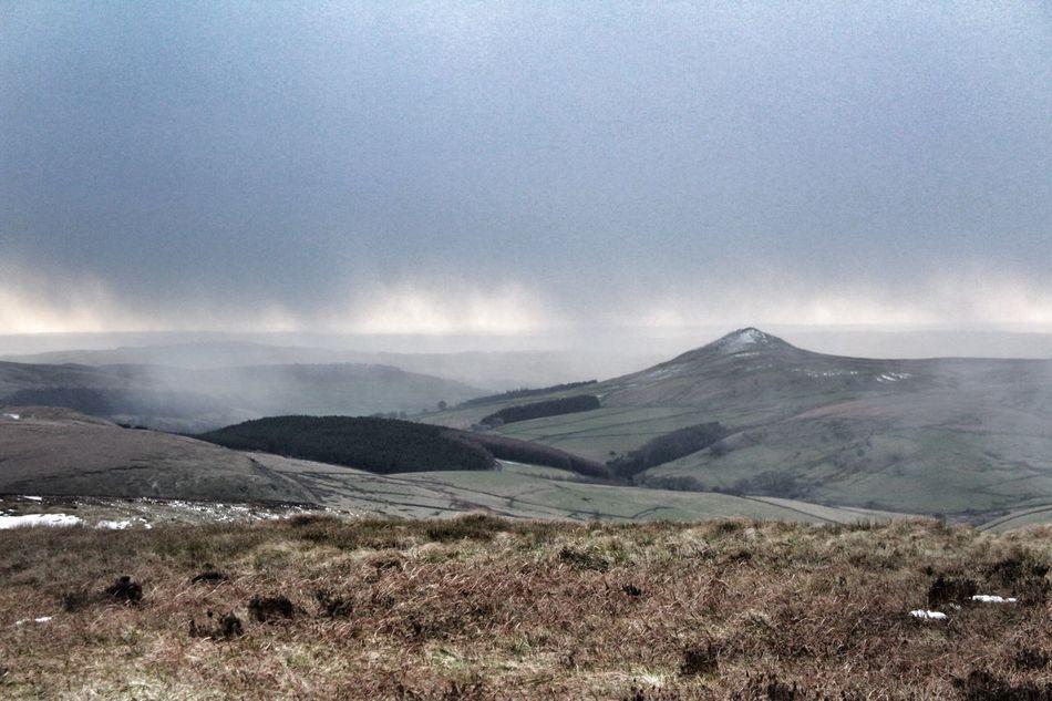 Snow showers around Shutlingsloe. Seen from Shining Tor Canon1300d Peak District  Shutlingsloe Shining Tor Cheshire