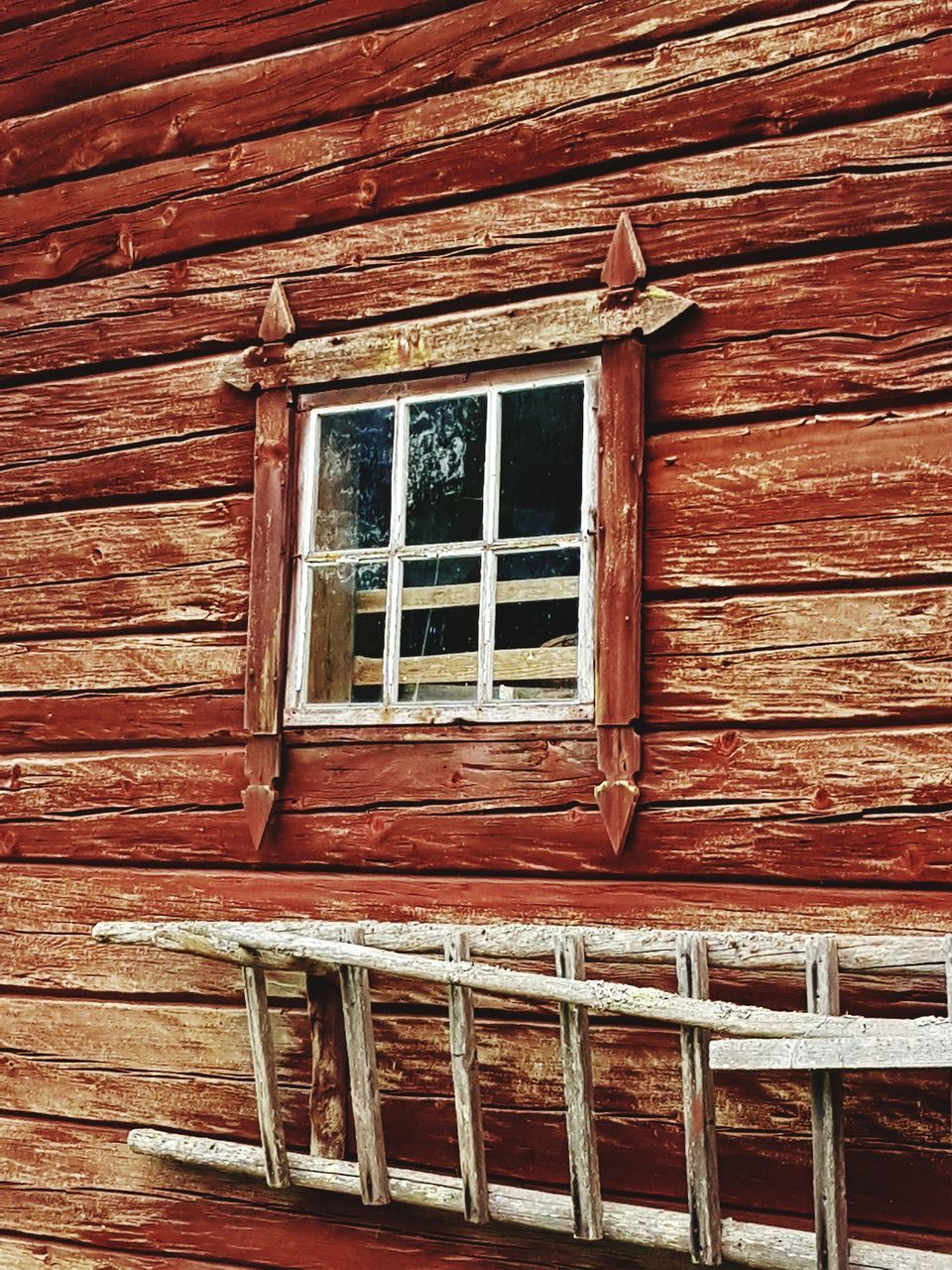 window, architecture, built structure, house, building exterior, no people, wood - material, low angle view, red, outdoors, day, window box