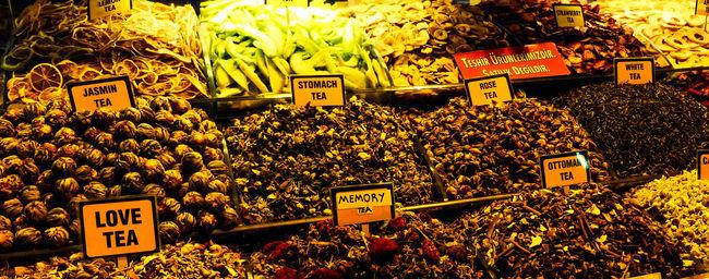 Display For Sale Granbazar Istanbul Love Tea Market Marketplace Price Tag Tea Turkey Tea Food