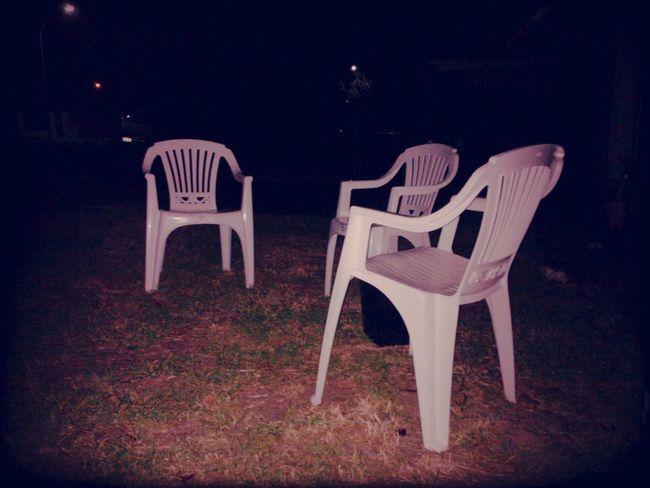 Smoking  Area  White Chairs  Garden