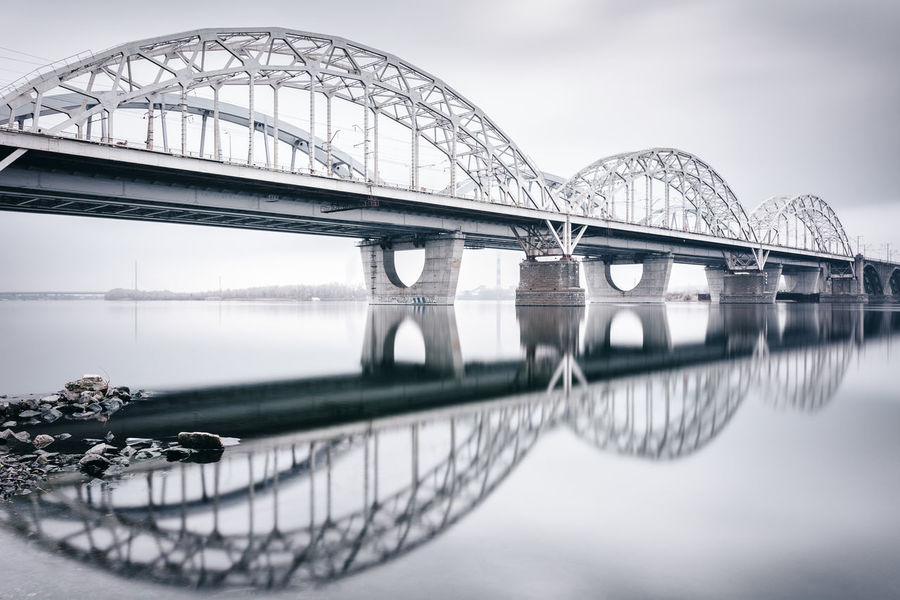 New Darnytskyibridge | Kiev, Ukraine 2016 Arch Bridge Architecture Bridge Bridge - Man Made Structure Bridge Reflected In Water Bridges In Kiev Bridges In Ukraine Day Dnieper_river Engineering Kiev Kiev City. Ukraine Kyiv New Darnytskyibridge Outdoors Reflection River Sky Tourism Travel Destinations Ukraine Water Winter In Kie Winter In Ukraine Winter Wonderland