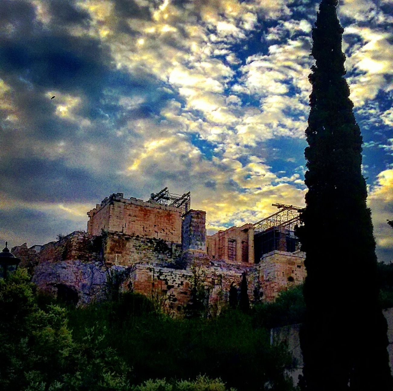 Athens Green Lanscape Sky Sky And Clouds Sun Nature Tree Natural Instalike Acropolis, Athens Acropolis