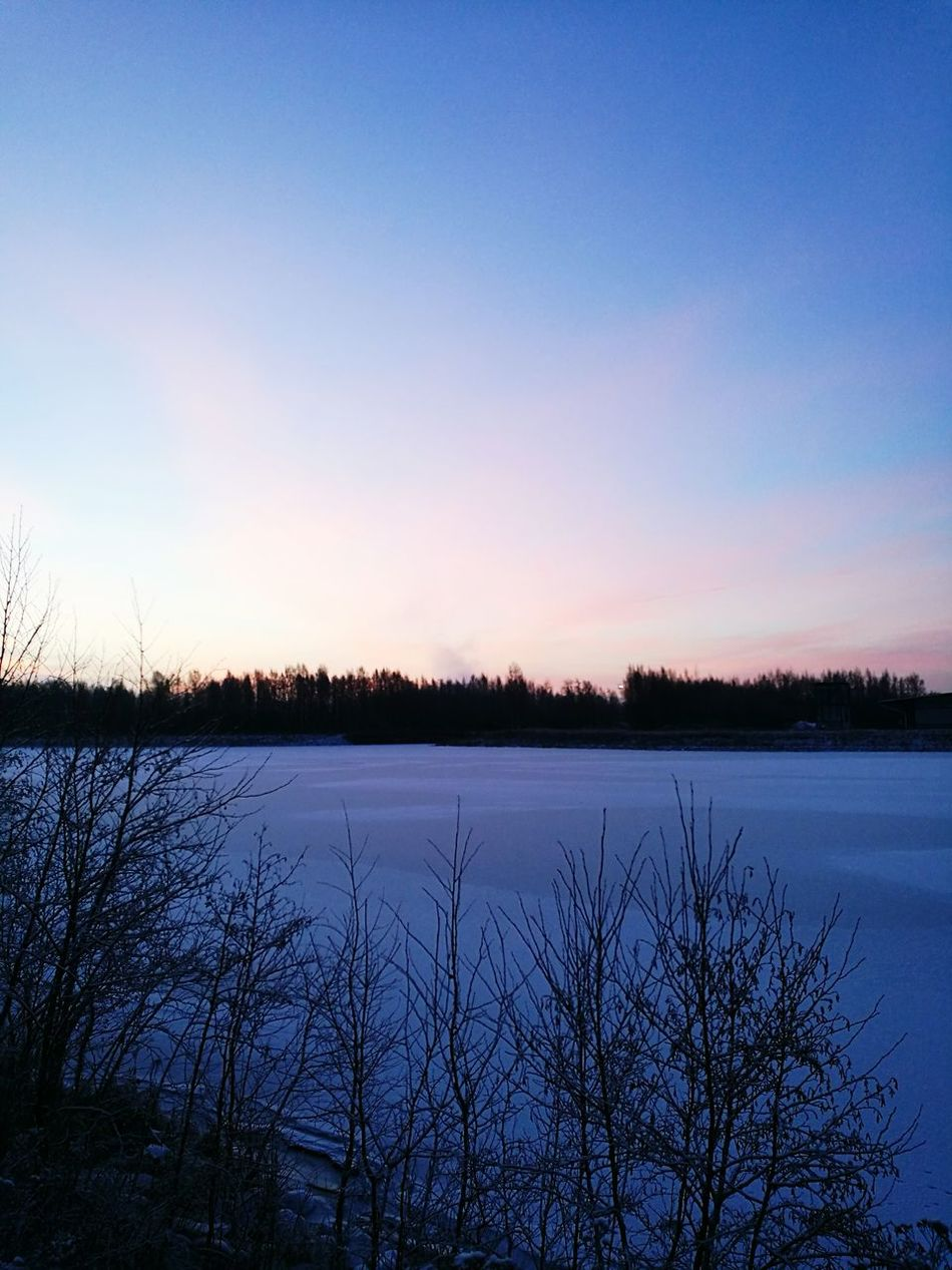 River View This Morning Wintertime Iced River ❄ Snow Covered Colourfulsky Relaxing Moments Before Work