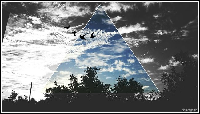 Photography Shape Crop Creative Crop Nature Geometry Clouds Sky Triangle