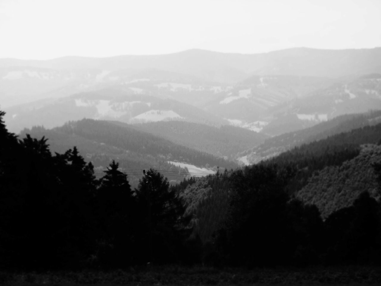 mountain, landscape, nature, beauty in nature, tranquil scene, tranquility, scenics, outdoors, day, no people, tree, mountain range, fog, forest, sky