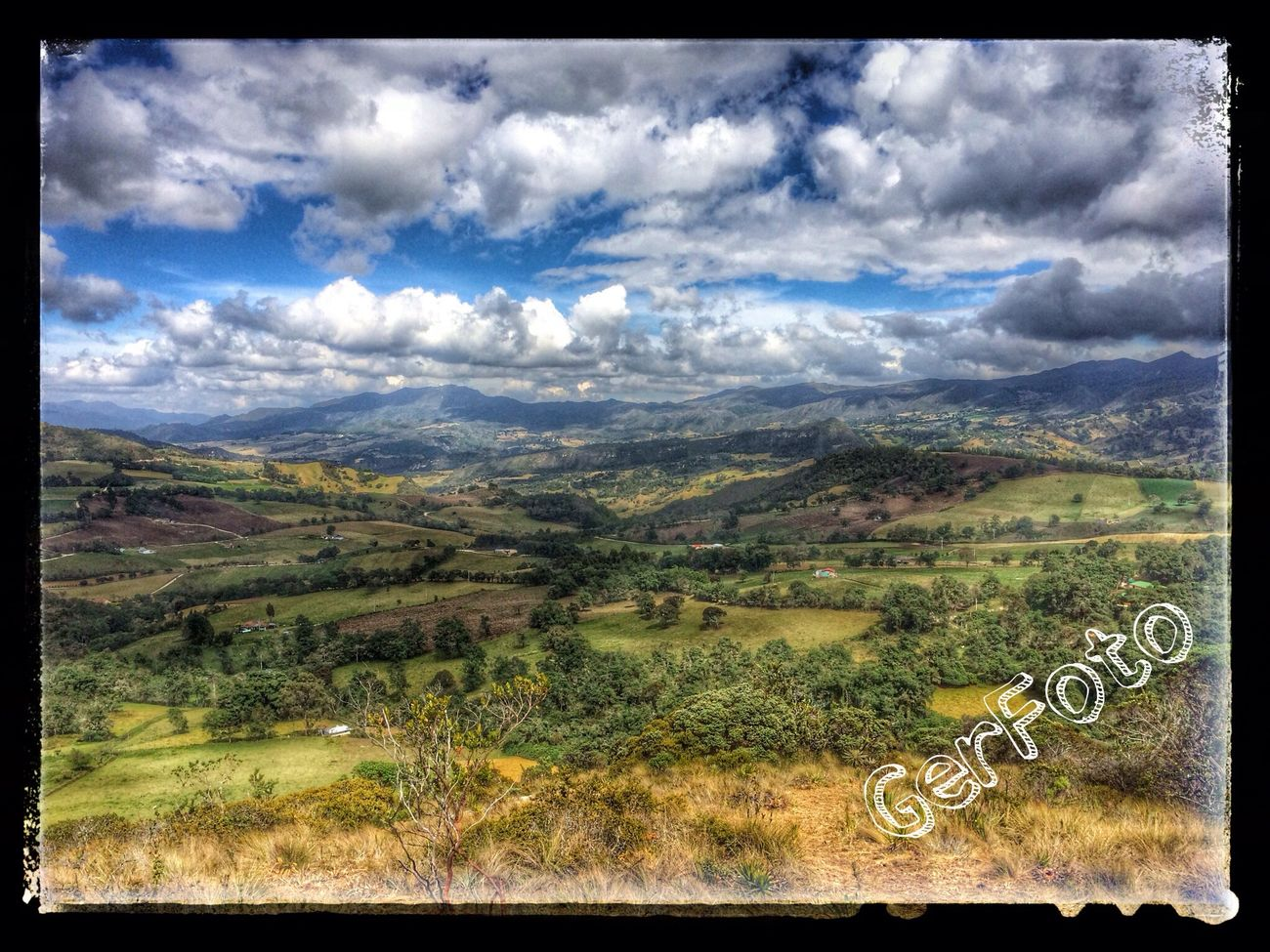 Sightseeing around Guatavita lake. Legend of El Dorado Landscape Colombia