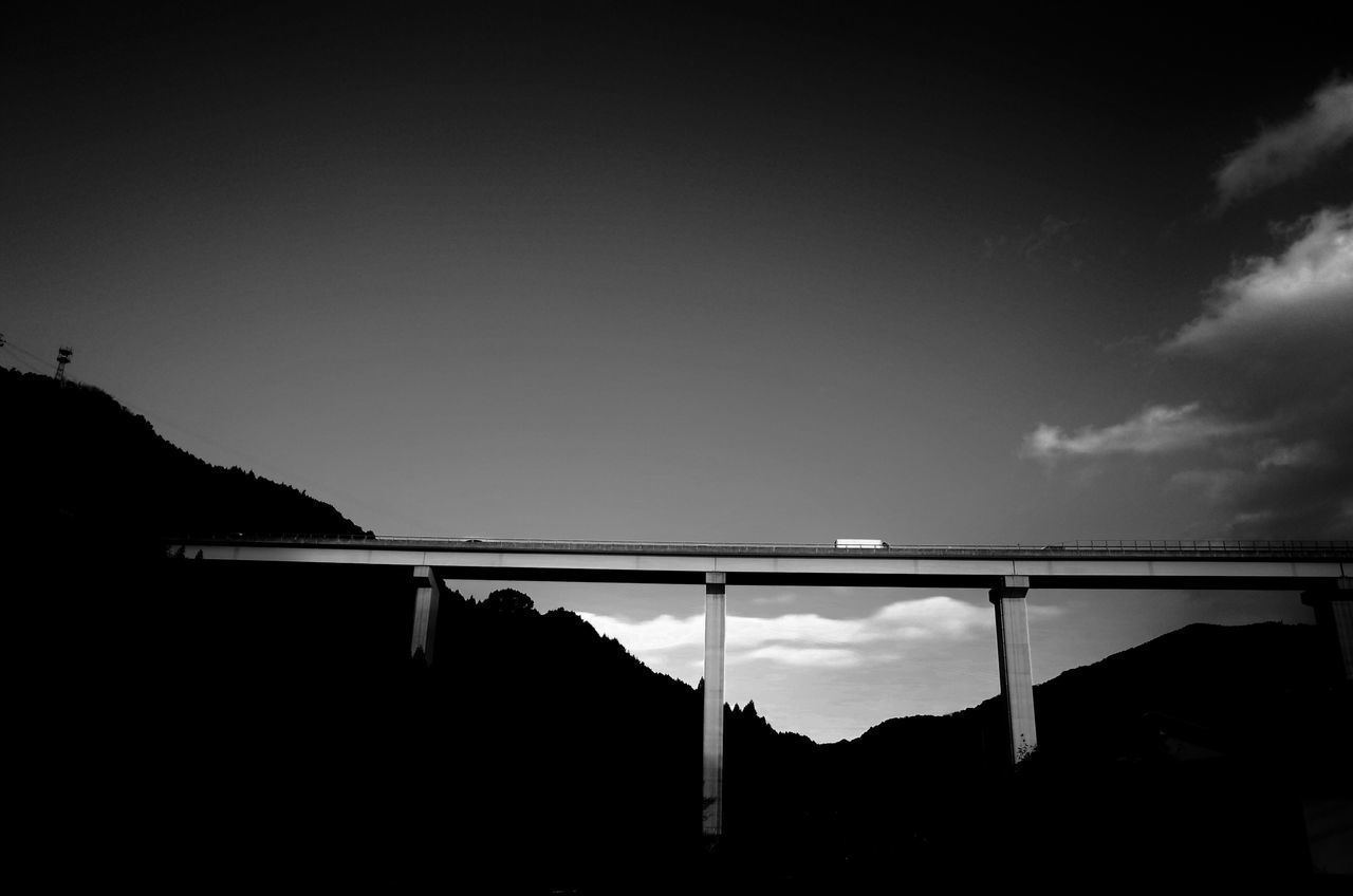 no people, sky, silhouette, outdoors, nature, day, mountain, clear sky, architecture