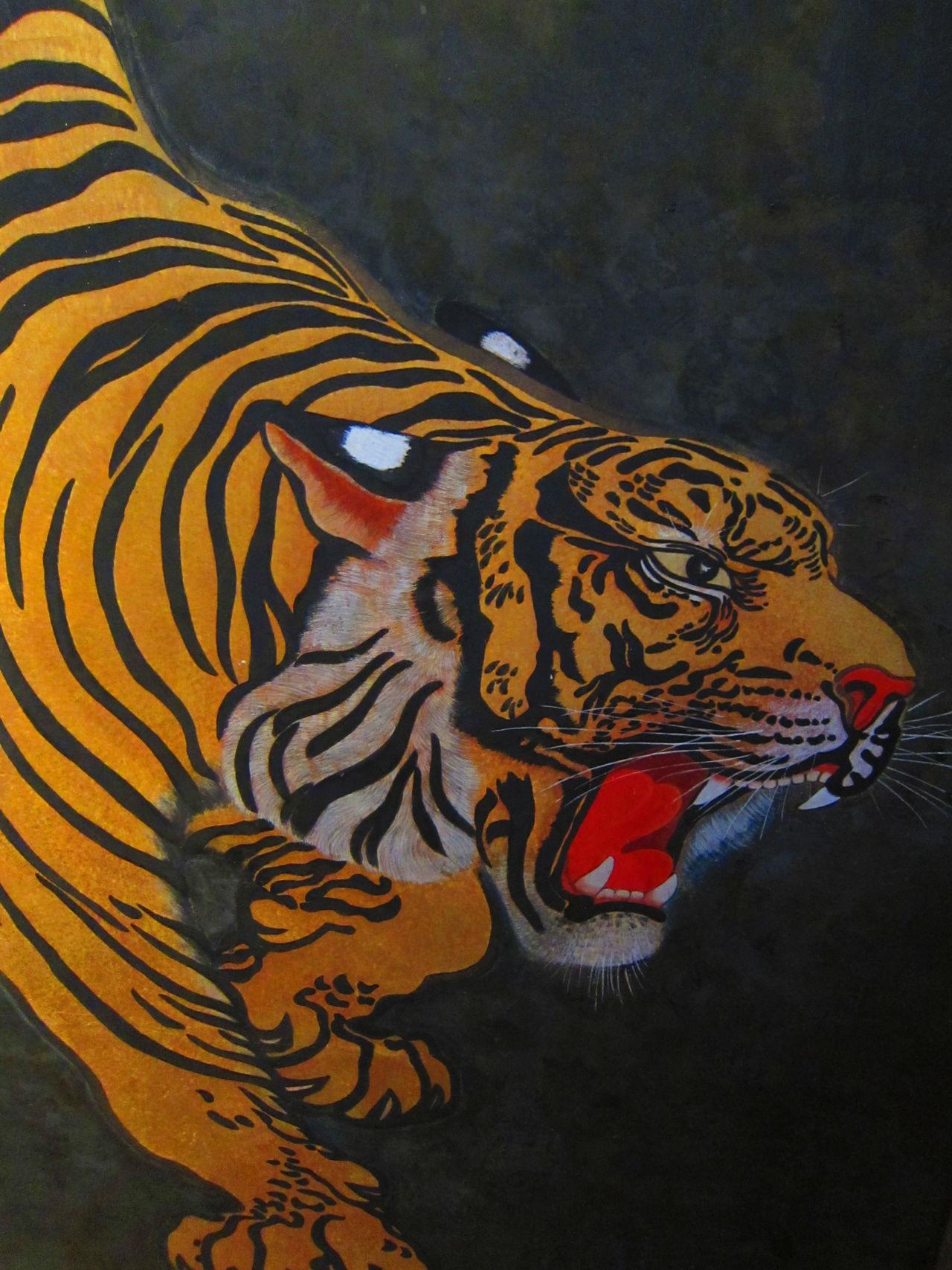 Fierce Animal Themes Fierce Historical Architecture Japanese Art Roar Tiger Tiger Art Wild Cats Kokura Castle Kokura Jyo Kokura 小倉 小倉城