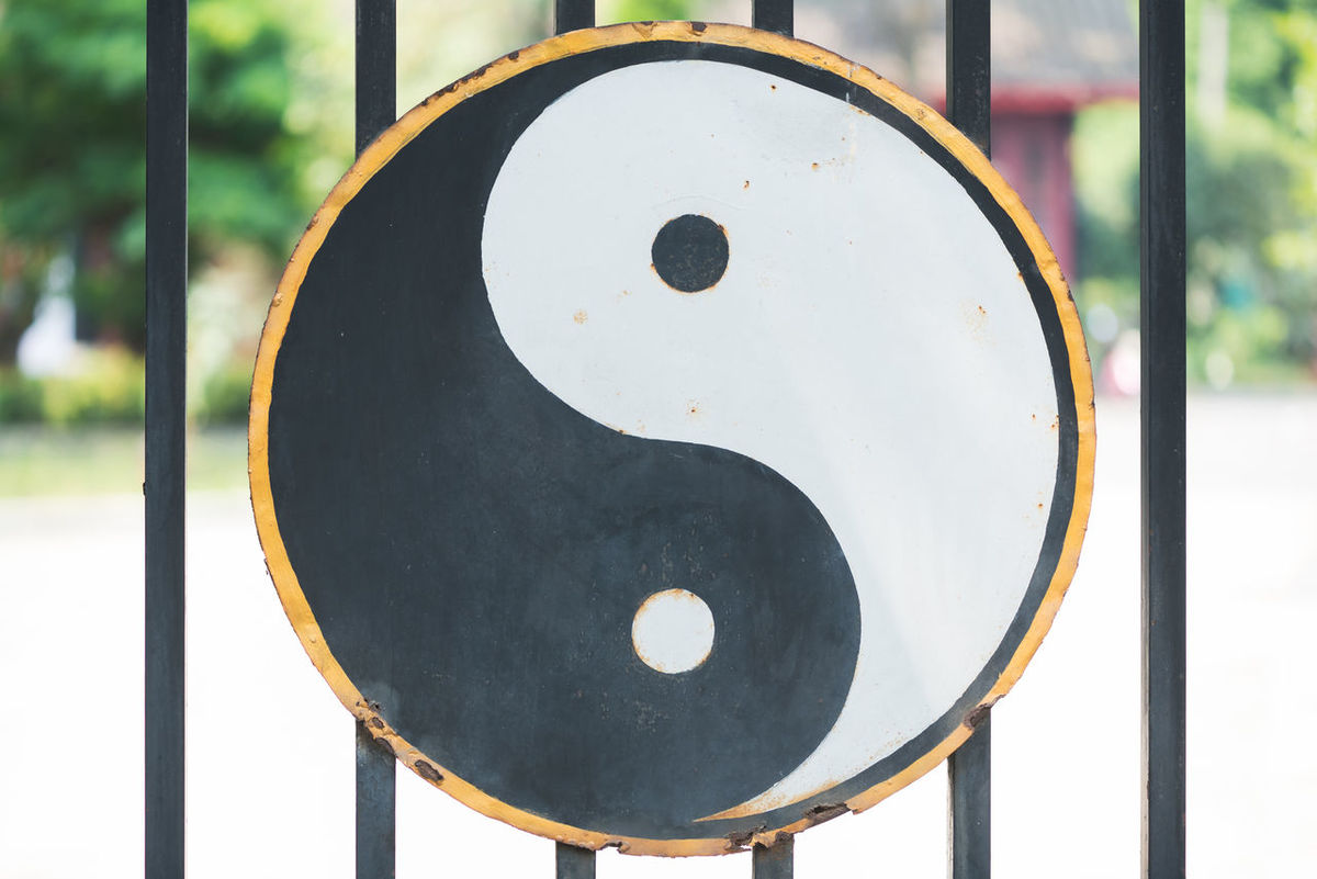 Sample Ying Yang Black Color Circle Close-up Dao Daoism Day Focus On Foreground Metal Music No People Outdoors Sport Yingyang