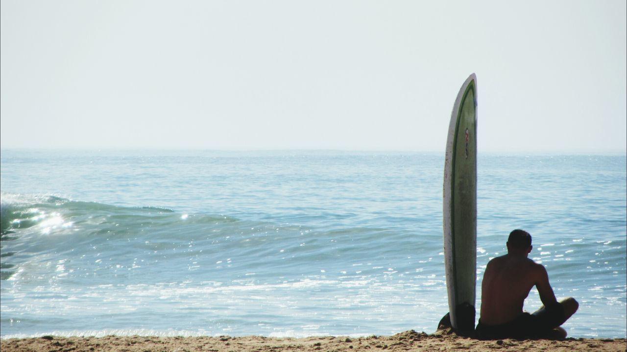 Beautiful stock photos of weather, Anticipation, Beach, Cascais, Clear Sky