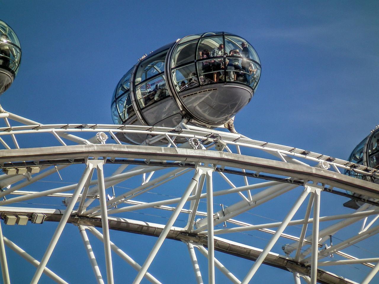 Amusement Park Amusement Park Ride Arts Culture And Entertainment Big Wheel Clear Sky Day England Gran Bretagna Great Britain Großbritannien Inghilterra London London Eye Londra Low Angle View No People Outdoors Sky