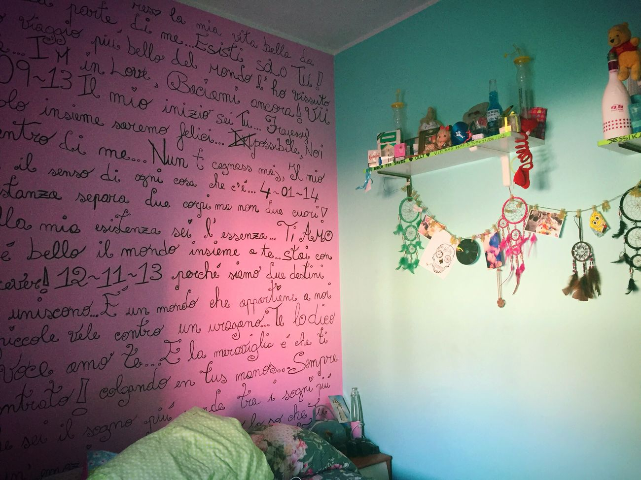 Pastel Power Room Pink Celeste Scritta Wall Dreamcatcher Draw