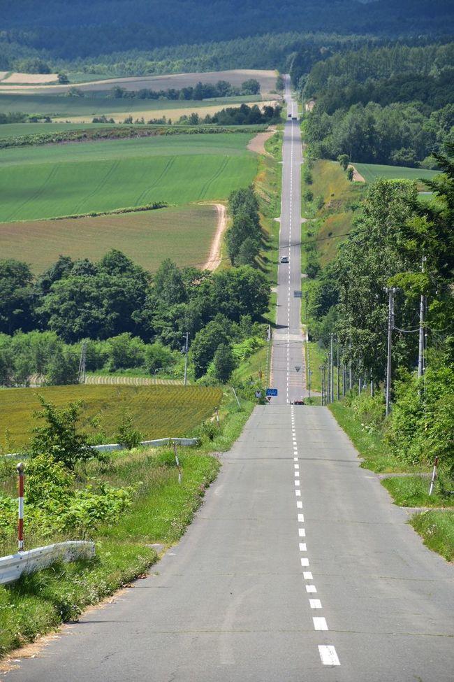 Roller Coaster The Roller Coaster Road The Hills Summer Kamifurano, Hokkaido, Japan