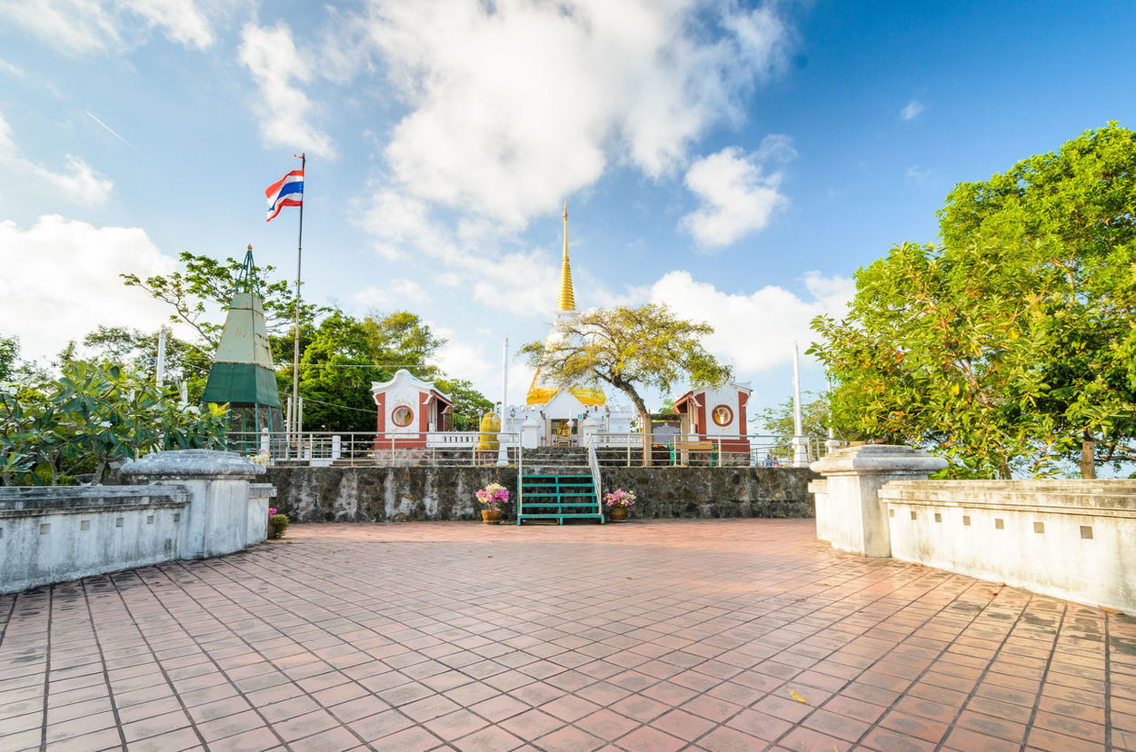 Architecture Buddhism Clear Sky Khao Tang Kuan Songkhla Summer Sunny Temple Thailand Tree