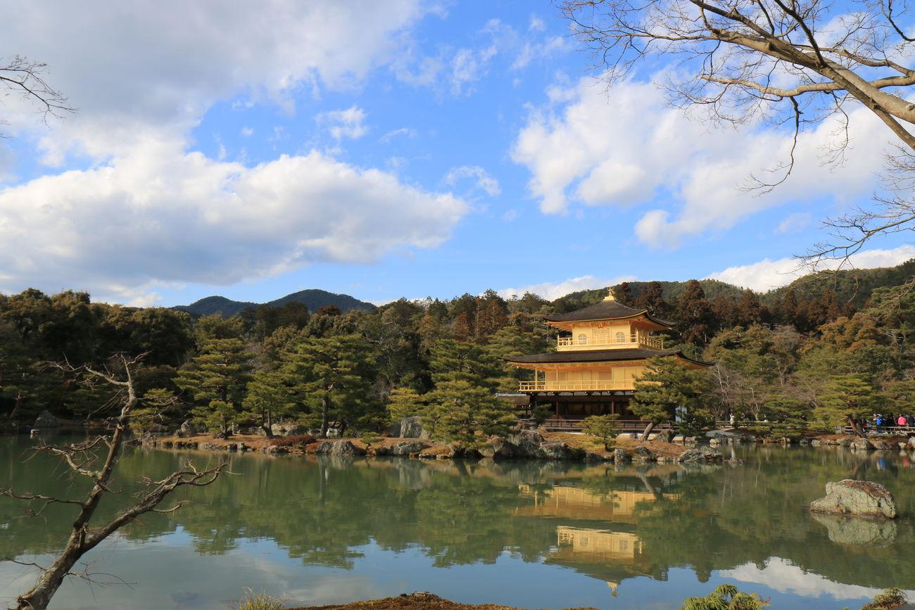 Architecture Building Exterior Golden Temple Lake Scenics Sky Travel