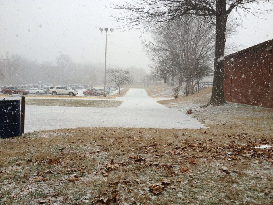 It's Snowing During 1st Block